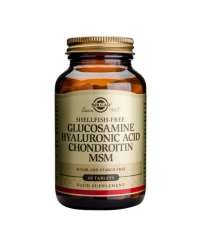 SOLGAR Glucosamine Hyaluronic Acid Chondroitin MSM / 60tabs.