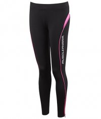 MUSCLE PHARM Ladies Leggings / black-pink