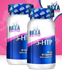 PROMO STACK HAYA LABS 5-HTP 50mg. / 90 Caps.