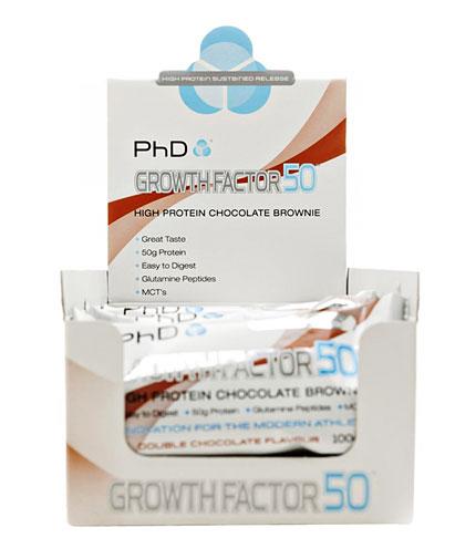PhD Growth Factor 50 Brownie /12 x 100 gr/ 1.200